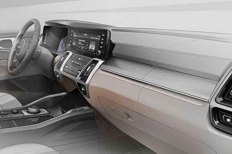 Kia Sorento (2020): Teaser, Innenraum, Motoren, Hybrid, Leak