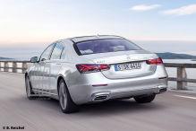 Mercedes-Benz S-Klasse W223 (2020): Heck, Rückleuchten, Optik