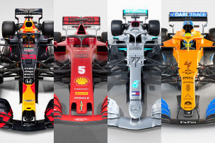 So tricksen Ferrari, Red Bull, Mercedes & McLaren