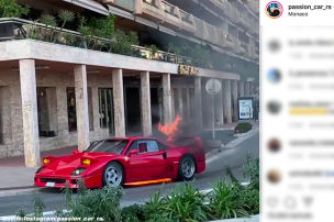 Hier brennt ein F40 komplett aus!