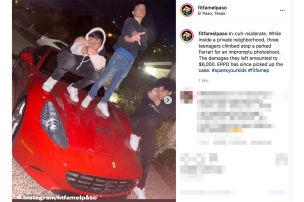 Poser-Kids trampeln auf Ferrari rum
