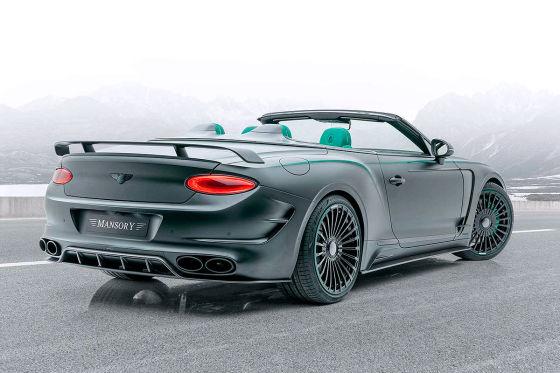 Aggressiver Look für das Bentley-Cabrio
