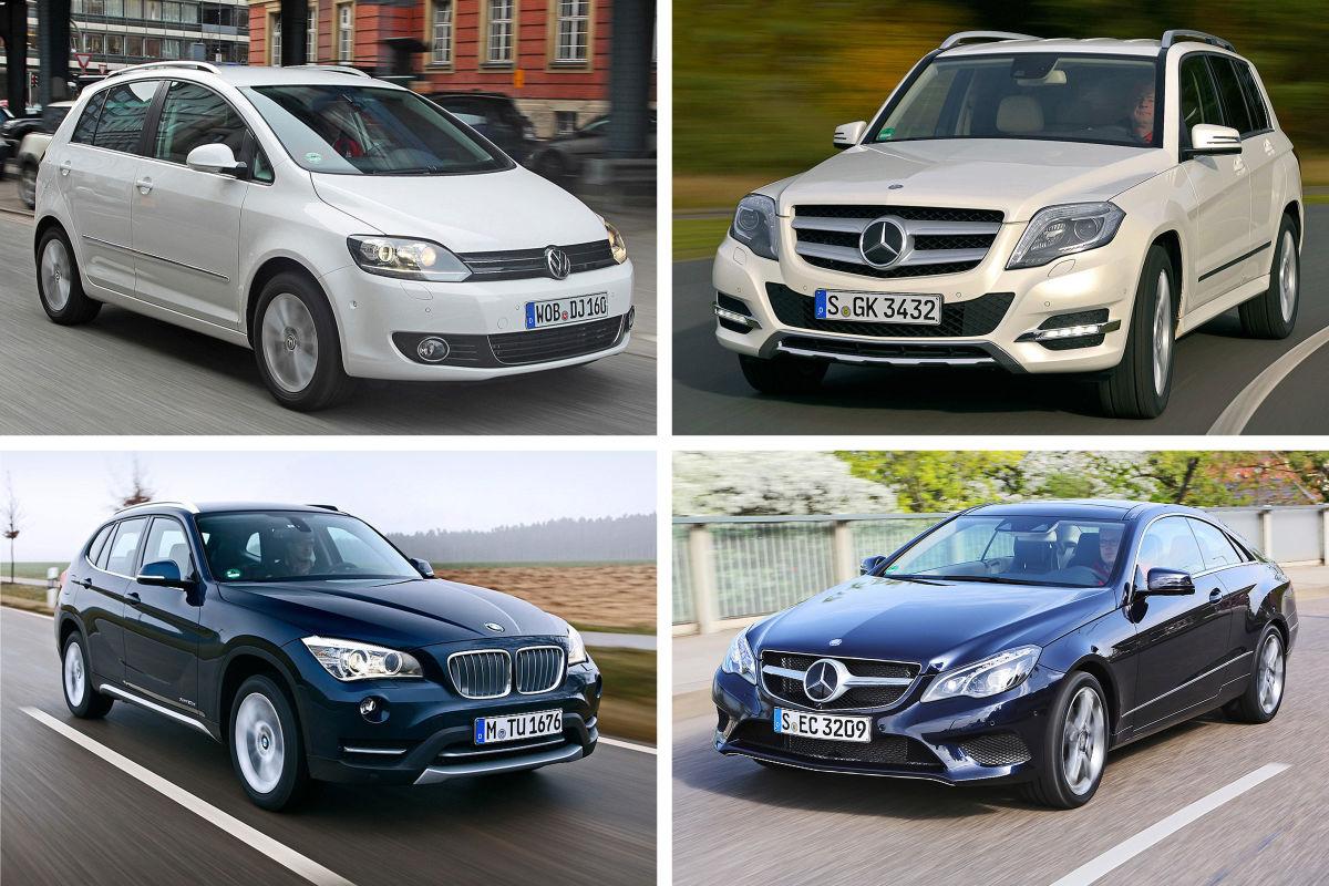 Collage  Die besten Gebrauchtwagen