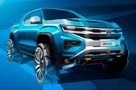 VW Amarok (2022): neu, Teaser, Ford Ranger, Motor