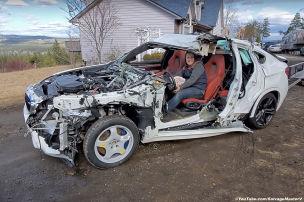 Dieser zerstörte BMW X6 M fährt noch!