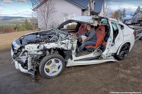 BMW X6 M: Crash, Unfall, Totalschaden