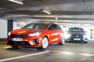 Kia ProCeed, Mercedes CLA Shooting Brake: Test