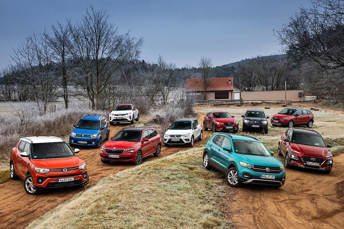Die Top 10 der kleinen SUVs im Check