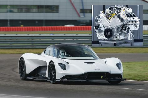 Aston Martin TM01 V6-Motor (2022): Valhalla, Mittelmotor, Hybrid