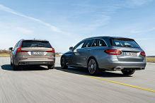 Mercedes C-Klasse T, Volvo V60: Hybrid-Kombis im Test