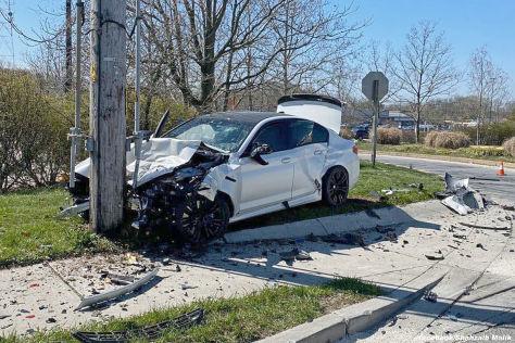 BMW M5 F90: Totalschaden nach Unfall