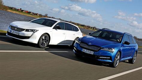 Peugeot 508 gegen Skoda Superb: Kombi-Test