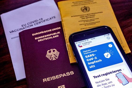 Reisepass Digitaler Impfnachweis Impfpass  Corona Warnapp