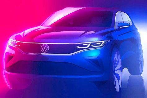 VW Tiguan Facelift (2021): Teaser, Bild, Antrieb, Plug-in-Hybrid, MIB 3