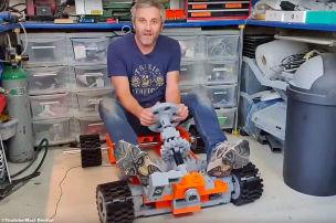 Selfmade Lego Go-Kart in Lebensgr��e