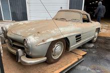 Seltener 300 SL Roadster gefunden
