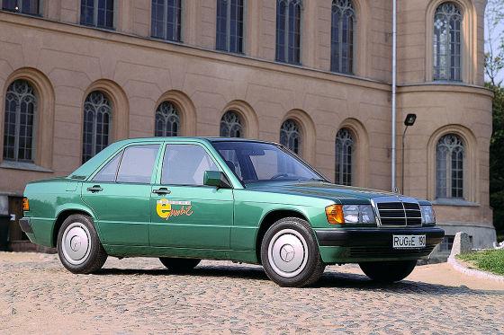 Mercedes 190 E mit Elektroantrieb