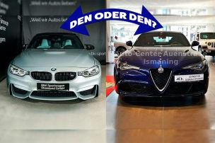 Zwei Powerlimos von BMW und Alfa