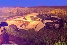 Chevrolet Corvette C8 gecrasht und dann geflüchtet