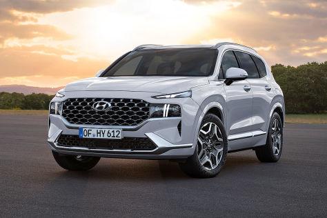 Hyundai Santa Fe Facelift (2020): mächtige Front fürs große SUV - autobild.de