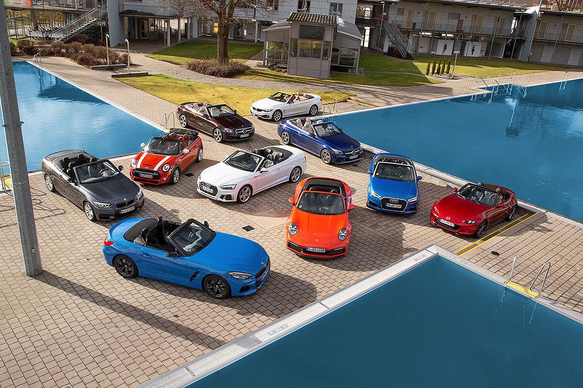 Zehn Cabrios und Roadster im Check