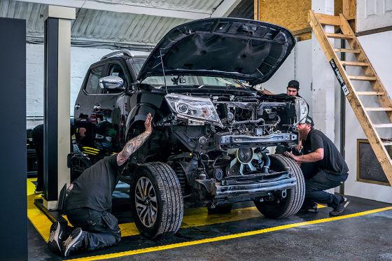 GT-R-Motor für einen Navara Pick-up