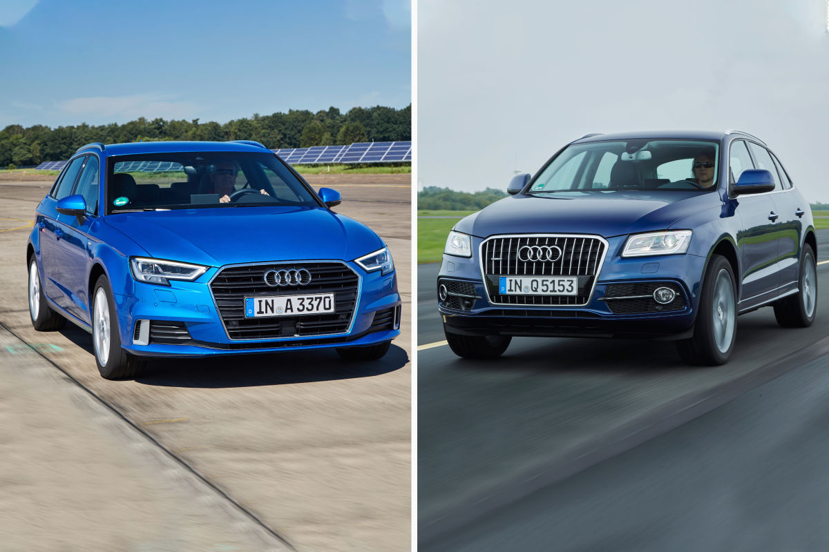 Collage Audi A3  vs Audi Q5