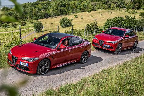 Alfa Giulia und Alfa Stelvio Quadrifoglio: Test, Motor, Preis - autobild.de