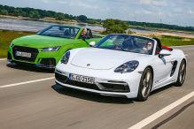 Audi TT RS, Porsche 718 Boxster GTS 4.0: Test, Motor, Preis