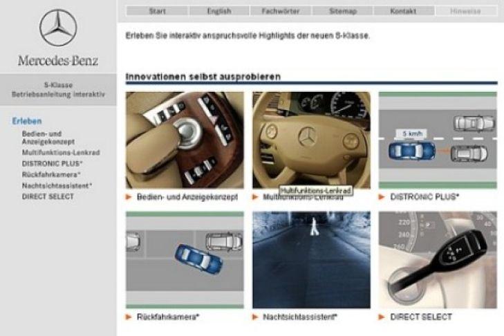 interaktive betriebsanleitung von mercedes-benz - bilder - autobild.de