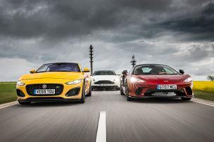 Drei englische V8-Supersportler im Test
