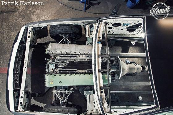 In diesem Polizei-Ford steckt ein 27-Liter-Panzermotor