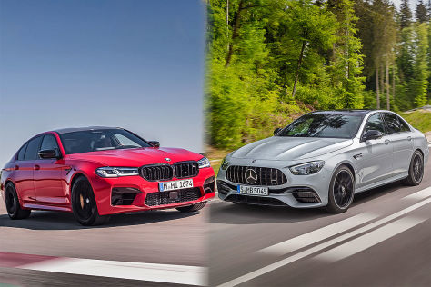 BMW M5 Competition, Mercedes-AMG E 63 S 4matic+