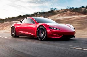 Tesla Roadster mit Düsenantrieb!