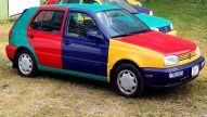 VW Golf 3 Harlekin: Klassiker des Tages