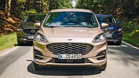 Ford Kuga, Mazda CX-5, Renault Koleos: SUVs