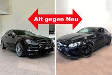 Zwei Generationen Mercedes C 63 AMG Coupé im Vergleich