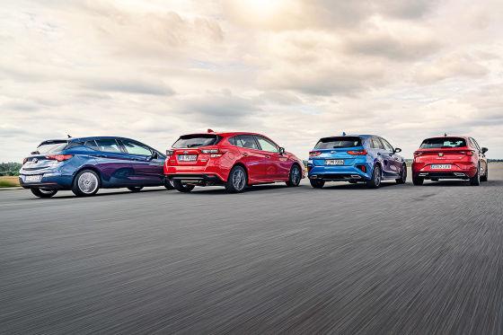 Kia Ceed Opel Astra Seat Leon Subaru Impreza