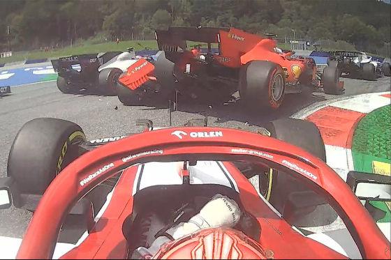Leclerc haut Vettel raus