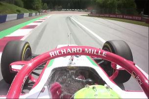 Feuerlöscher stoppt Schumacher