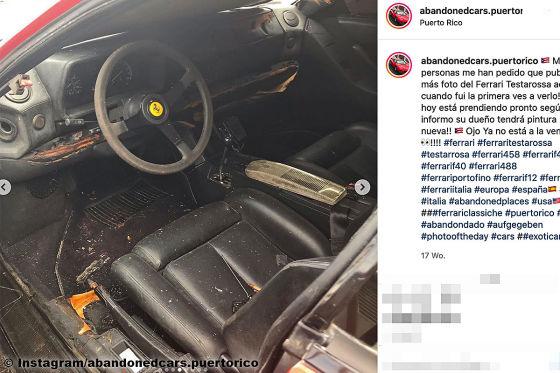 Dieser vergessene Ferrari Testarossa stand 17 Jahre lang an der Straße
