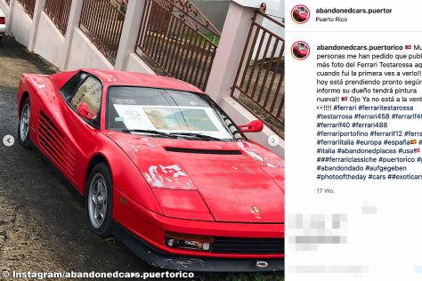 Ferrari Testarossa: Scheunenfund, Wrack, Preis