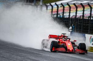 Vettel im Regen Schnellster