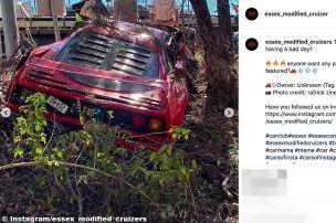 Millionen-Ferrari auf Testfahrt gecrasht!