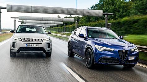Alfa Stelvio, Range Rover Evoque: SUV-Test