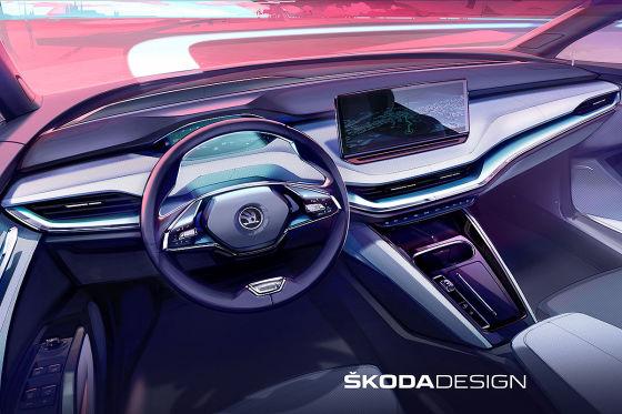 Der reinelektrische Skoda Enyaq dürfte ein praktisches E-SUV werden