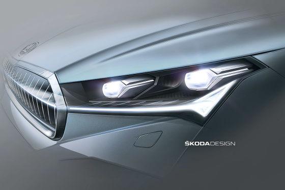 Skodas erstes E-SUV Enyaq iV bekommt ein spezielles Tagfahrlicht