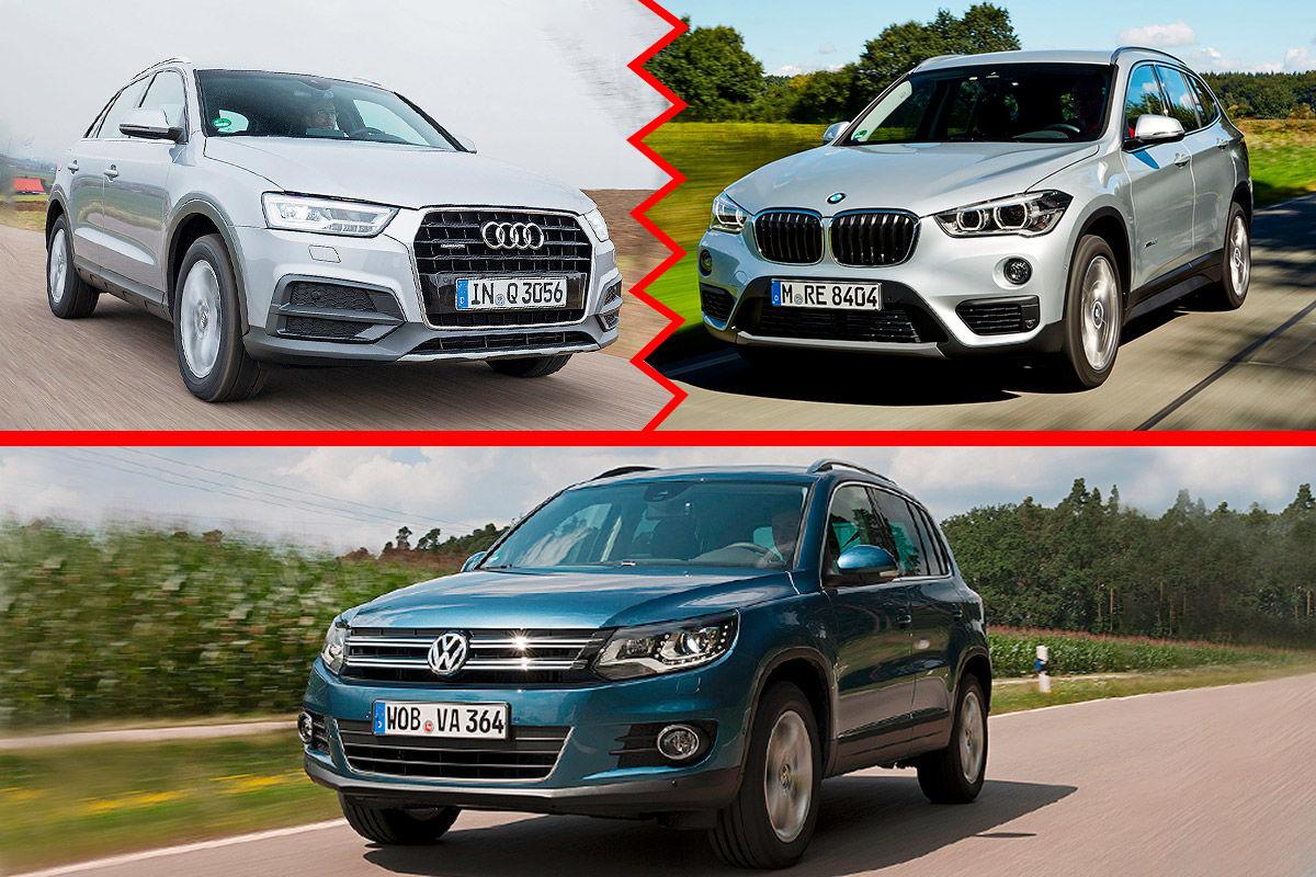 VW Tiguan, BMW X1 und Audi Q3: Wer ist besser?