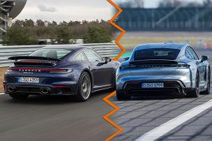 Porsche 911 Turbo S vs. Taycan Turbo S