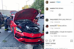 Rapper crasht in Lamborghini Urus